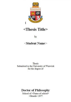Formatting of Theses and Dissertations | Maynooth University