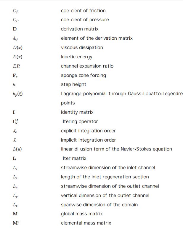 List of Symbols - Computational Fluid Dynamics is the Future