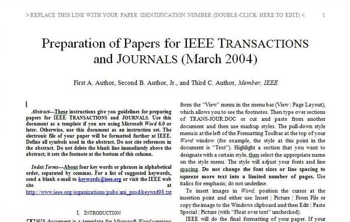 Ieee research paper example for Ieee cover letter example