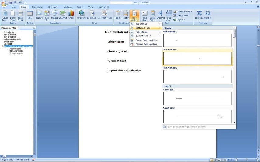 Microsoft word 2007 thesis templates introduction in research paper writing